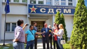 Press Conference Hans van Baalen in Macedonia